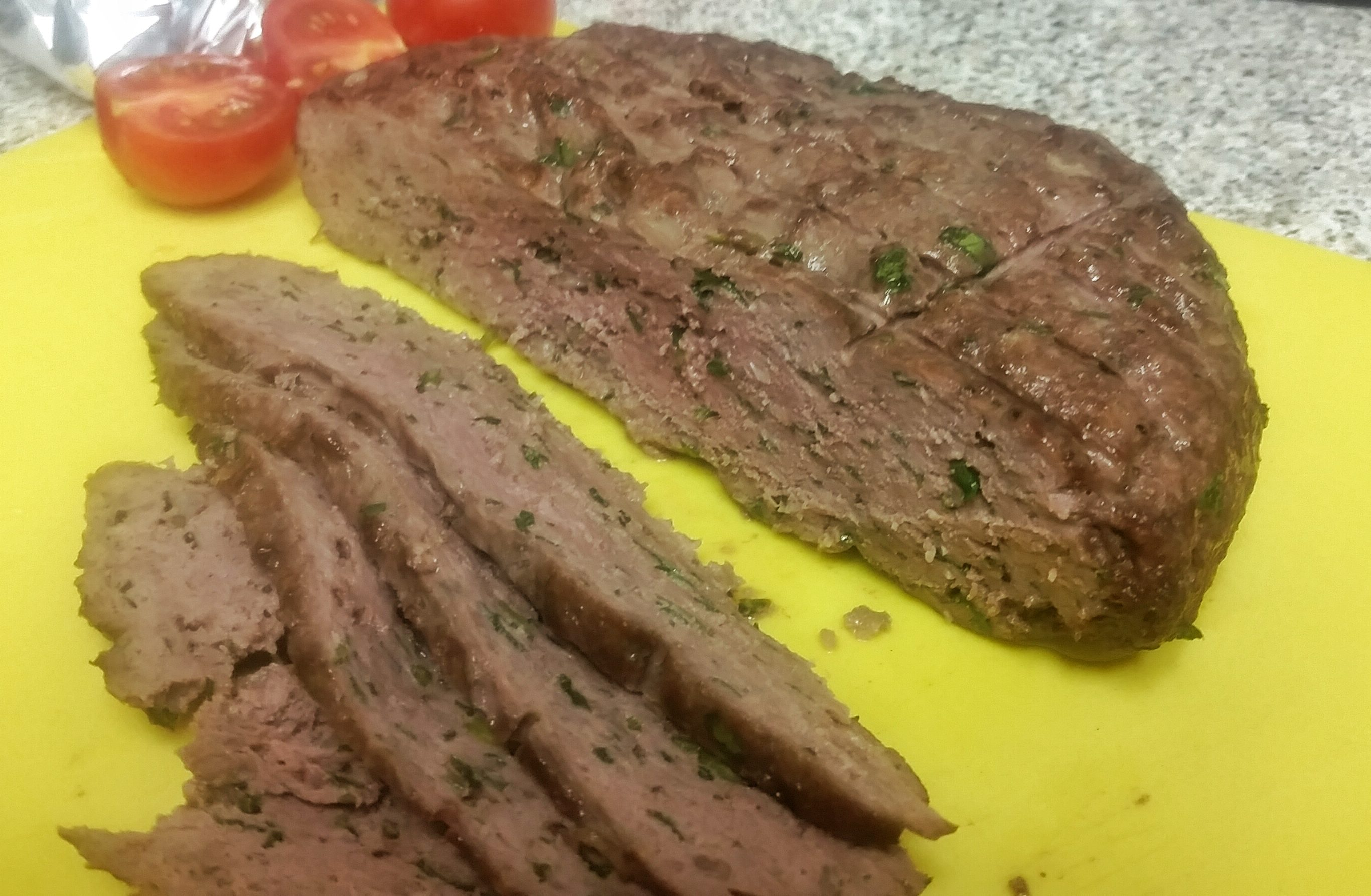 Homemade Gyro Meat. 1/2 lamb and 1/2 beef.