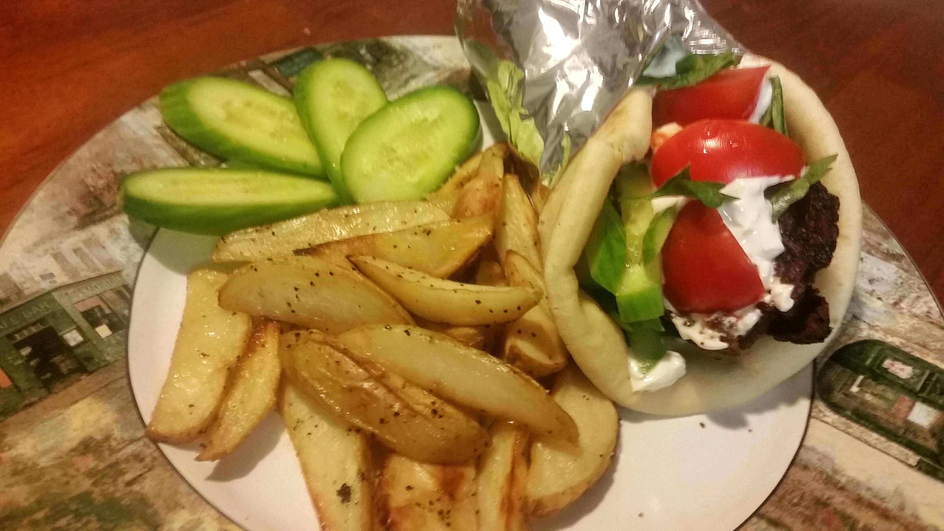 Gyro from scratch with Greek Seasoned Potato